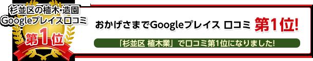 杉並区の植木・造園Googleプレイス口コミ第1位!